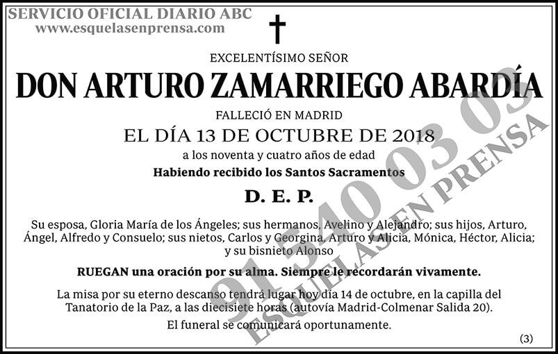 Arturo Zamarriego Abardía
